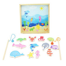Magnetic Fishing Game Playset for Kids Toddlers 12 Pieces with 2 Poles