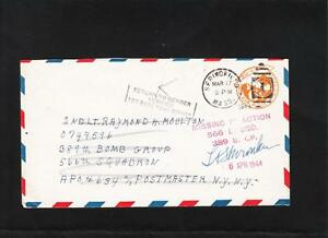 WWII Auxiliary 1st Base PO MIA Officer Signed 389th Bomber Group APO 634 PSE z80