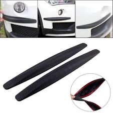 2× Car Bumper Protector Corner Guard Scratch Sticker Carbon Fiber Texture Rubber