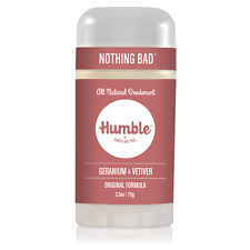 Humble All Natural Deodorant, Geranium & Vetiver, Pack of 1