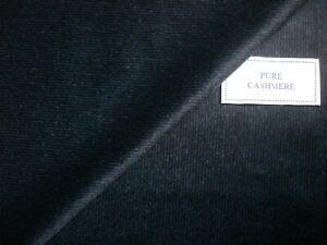 Loro Piana 100% CASHMERE Teal Blue & Black Pattern JACKETING/COATING FABRIC= 2 m