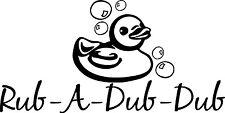 RUB A DUB DUB Bath Kids Wall Decal Quote Words Lettering Decor Sticker