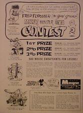 1965 FRED FLYPOGGER MOUSE~SUPER FUZZ~FLIP OUT MONSTER MODEL ART MONOGRAM AD