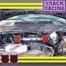 DUAL 04-11 DODGE DAKOTA/DURANGO/RAM/NITRO 3.7L V6 TWIN AIR INTAKE KIT Black Red