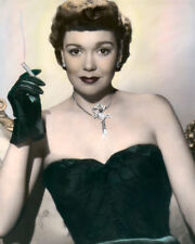 """JANE WYMAN HOLLYWOOD ACTRESS MOVIE STAR smkg 8x10"""" HAND COLOR TINTED PHOTOGRAPH"""