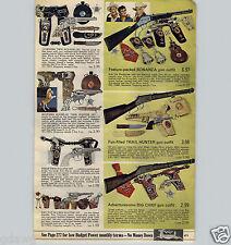 1967 PAPER AD Toy Holster Guns Bonanza Johnny Eagle Red River Gun Daisy Riochet