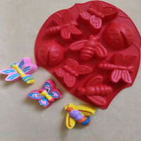 Silicone Gummy Insect Chocolate Mold Candy Maker Ice Tray Jelly Moulds Y