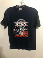 Vintage 1985 Chicago Bears Super Bowl XX Blue Graphic T-Shirt Medium Made In USA