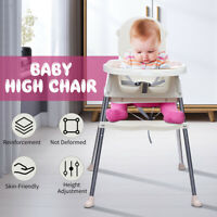 Baby High Chair Convertible Play Table Seat Booster Toddler Feeding Tray   L9