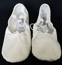 American Ballet Theatre SIZE 4 1/2 Dance Shoes White Leather Flats In Box