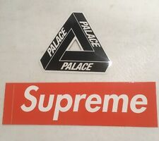Free Shipping Supreme  Box Logo & Palace Sticker Authentic 100% Black
