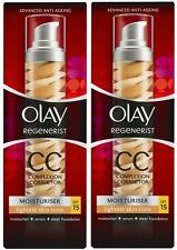 2 x 50ml Olay Regenerist CC Complexion Corrector Moisturiser (lightest) SPF15