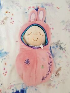 HUNNY BUNNY Manhattan Toy Snuggle Friend Bedtime As New!