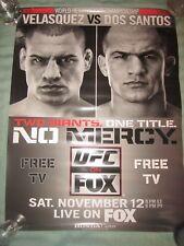 UFC ON FOX POSTER 18 X 24 VELASQUEZ VS DOS SANTOS WORLD HEAVYWEIGHT CHAMPIONSHIP