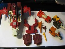 TECHNOBOTS  WITH PARTS AND WEAPONS LOT NICE VINTAGE G1 ORIGINAL TRANSFORMER!