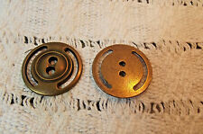Nice Antique-Brass Color Modern Metal Buttons (639)