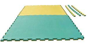 Puzzlematte Grappling. 1x1m x 2cm. gelb/grün. Matte. Karate, Ju Jutsu,Kickboxen.