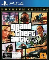 Grand Theft Auto V GTA V Premium Edition For PS4 Playstation 4 Pro Video Game