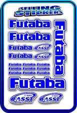 FUTABA SERVO RADIO RX TX 2.4G FLIGHT REMOTE CONTROL STICKERS FASST BLUE WHITE