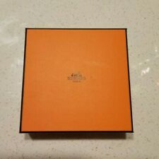 HERMES HERMESSENCE perfume box collectible square orange 5.25in tissue brochure