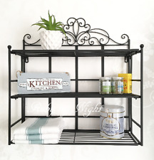 Vintage Style Metal Wall Shelf Unit Storage Cabinet Display Shabby Chic Spices