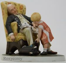 "Norman Rockwell ""Grandpa's Guardian� Figurine Limited Edition Sculpture #3379"