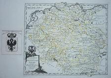 Originaldrucke (bis 1800) aus Tschechien mit Landkarte