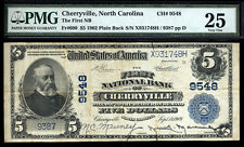 $5 1902 PB The First National Bank of Cherryville, North Carolina DESIRABLE NOTE