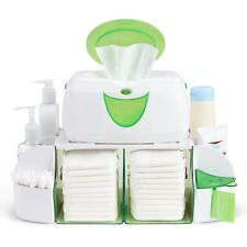 Baby Wipe Warmer Dresser Station Diaper Towel Nappy Lotions Ointments Organizer