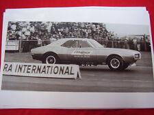 1967 68 ? PONTIAC FIREBIRD  DRAG STRIP RACE CAR ON STRIP 11 X 17  PHOTO  PICTURE