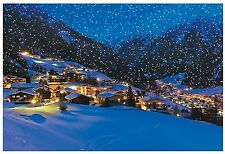 Snow Village Backdrop Banner FROZEN WINTERLAND Wall Mural PROP LARGE NICE NEW