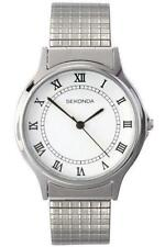 Sekonda Men's Quartz Analogue Stainless Steel Expanding Bracelet Watch 2 YEAR WA