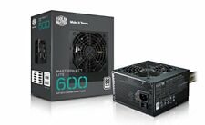 Cooler Master MasterWatt Lite 600w 230v 80plus White 120mm Fan Active PFC e