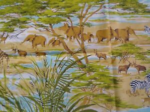 Set of Colorful Standard Size Pillowcases Featuring Safari Animals