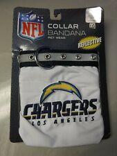 NFL SD LA Charger's Collar Dog Cat Pet Sz L  Reflective Buckle Bandana Collar