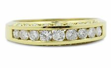Band Very Good Cut Yellow Gold VS2 Fine Diamond Rings