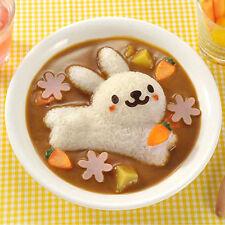 4 pcs Lovely Rabbit Dolphin Sushi Maker Rice Onigiri Mold Mould Punch DIY Bento