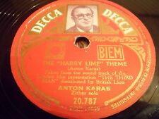 "78RMP 10"" - ANTON KARAS - The ""Harry Lime"" Theme - DECCA - 20.787"