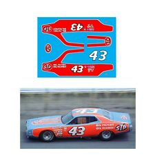 #43 Richard Petty STP Charger 1974 1/64 scale decal AFX Tyco Lifelike Autoworld