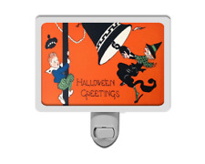 Halloween Greetings Funny Vintage Style Boy and Witch Night Light