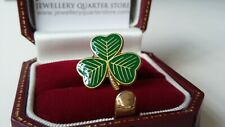 St Patrick's Day Irish Shamrock Clover Green 18mm Lapel Pin Good Luck Badge