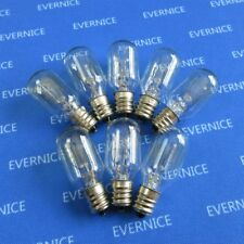 "8PCS 110V Clear Light Bulb Screw-in 7/16"" 15 WATT 7SCW for Babylock Brother Elna"