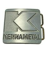 "Vintage Belt Buckle Advertising Kennametal Machining Milling 2.5""L x 2.5""W Belt"