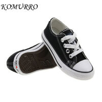 Classic Kids Denim Canvas Shoes Boys Girls Casual Shoes Cosy Ox Flat Sneakers