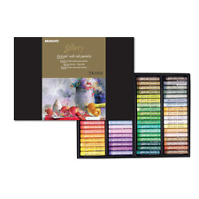 [Mungyo] MOPV-72 Soft Oil Pastels , Paper Box,  Set of 72 - Assorted Colors⭐⭐