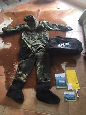 US military diving unlimited international dry suit AAOPS DUI Woodland + Bag