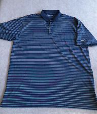 Nike Blue Striped Polo Shirt Adult Size XXL FitDry Golf Apparel Outdoor