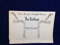 The Gotham dinner restaurant menu for a delightful dinner  vintage