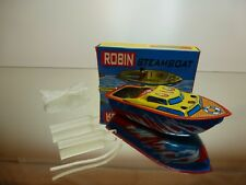 WELBY IMPEX INDIA TIN TOY - ROBIN STEAMBOAT - L13.0cm - UNUSED CONDITION IN BOX