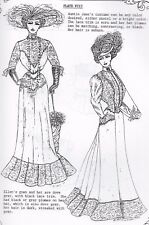 1-1'ANTIQUE MAN/LADY/CHILD MANNEQUIN/MINIATURE DOLL@1890-1901 DRESS PATTERN BOOK